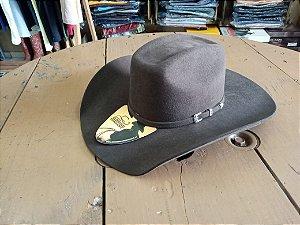 Chapéu Eldorado Companhy de lã cor marrom numero 55 aba 11,5 cm