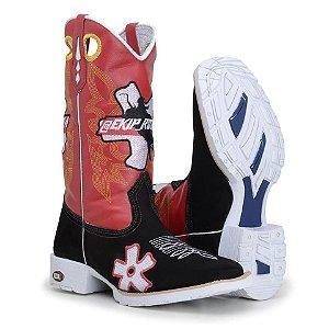 bota texana country masculina bico quadrado personalizadas com Equipe Rozeta , Monster , Agronomia, Veterinária  tem outras opções de fabricações de cano solado e formato do bico
