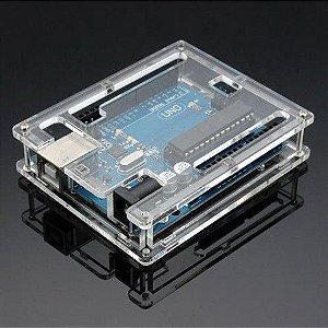 Case para Arduino Uno em Acrílico Transparente
