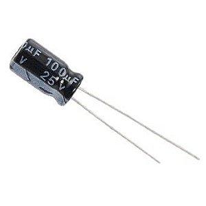 Capacitor Eletrolítico 100uF x 25V