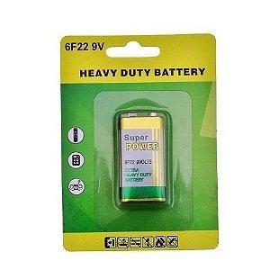 Bateria 9v 6f22 no Blister