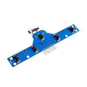 Módulo Sensor IR TCRT5000 5 Canais para Robô Seguidor de Linha