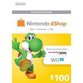 Cartão Nintendo Eshop 100 Dólares USA