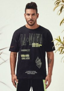 Camiseta Lamafia Road Rapstar White Black and Green HCS12912