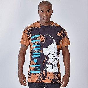 Camiseta Lamafia Graphics Marrom
