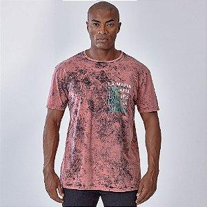 Camiseta Lamafia Graphics Bordô