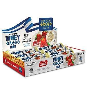 Caixa Whey Grego Bar 40g 12 Unidades - Nutrata