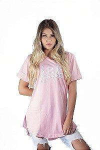 Camiseta Oversized We Are Raise Rosa