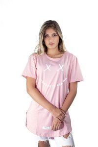 Camiseta Oversized Share The Love Rosa