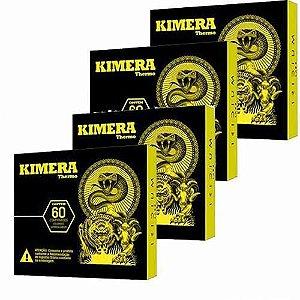 Kit 4 Kimera Thermo Iridium Labs 60 Comprimidos