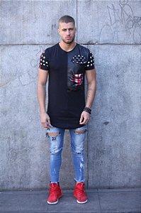 Camiseta T-shirt - Recortes EUA Black