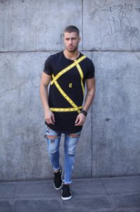Camiseta Long - Faixas Yellow