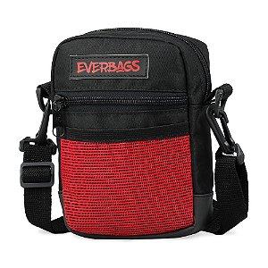 Shoulder Bag Preta e Vermelha Mini Redinha