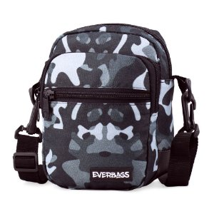 Shoulder Bag Camuflada Cinza Mini Everbags