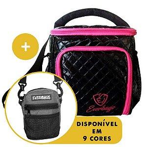 Kit Térmica Compacta Rosa Matelassê  + Shoulder Bag