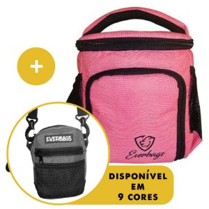 Kit Térmica Compacta Rosa Lagarto + Shoulder Bag