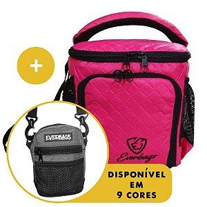 Kit Térmica Compacta compacta Matelassê Pink + Shoulder Bag