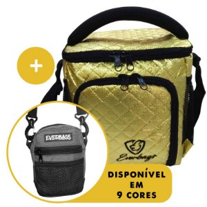 Kit Térmica Compacta Metalassê Dourada +  Shoulder Bag