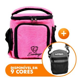 Bolsa Térmica Compacta Rosa Lagarto + Shoulder Bag