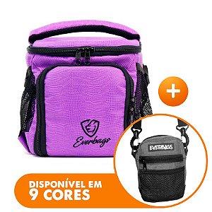 Bolsa Térmica Compacta Roxa Lagarto + Shoulder Bag