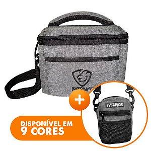 Bolsa Térmica Fit Lancheira Cinza + Shoulder Bag