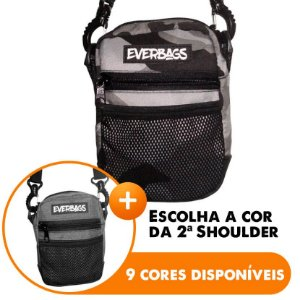Shoulder Bag Camu Cinza - Escolha A segunda Shoulder bag