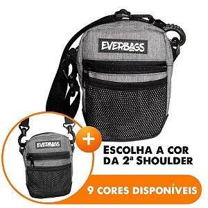Shoulder Bag Mescla Cinza - Escolha A segunda Shoulder bag