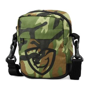 Shoulder Bag Camuflada Logotipo Emborrachado