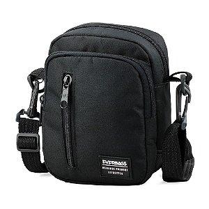 Shoulder Bag Black Zíper