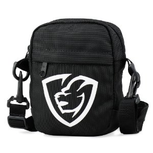Shoulder Bag Black Logo Emborrachado