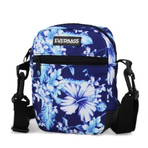 Shoulder Bag Azul Floral Everbags