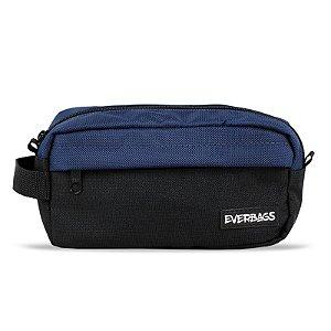 Necessaire Estojo Organizador Preto Azul Everbags