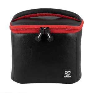 Bolsa Térmica Fitness Lancheira Lunch Bag Preto Vermelho Everbags
