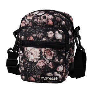 DUPLICADO - Shoulder Bag Black Floral Everbags