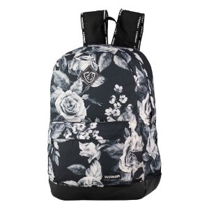 Mochila School Floral Preto Everbags