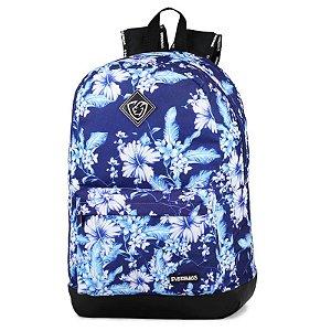 Mochila School Florar Azul