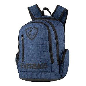 Mochila Trip Azul Aço Everbags