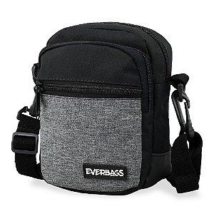 Shoulder Bag Preto e Cinza