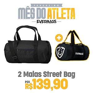 KIT 2 Malas de Treino Streetbag - Black Luxo + Black
