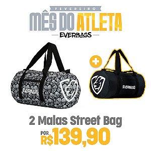 KIT 2 Malas de Treino Streetbag - Caveira + Black