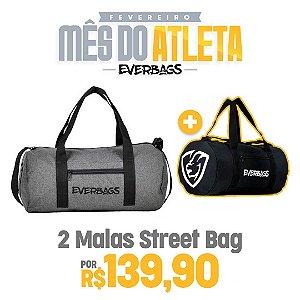 KIT 2 Malas de Treino Streetbag - Cinza + Black