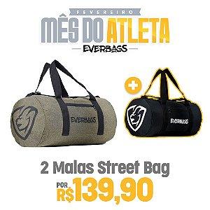 KIT 2 Malas de Treino Streetbag - Marrom + Black