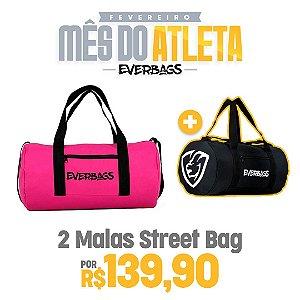 KIT 2 Malas de Treino Streetbag - Rosa + Black
