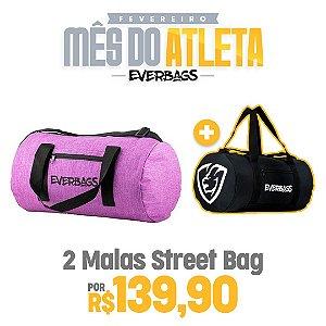 KIT 2 Malas de Treino Streetbag - Violeta + Black