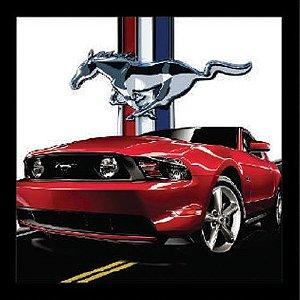 """Quadro Decorativo Vazado 30x30cm """"Mustang"""" - ECOMIX"""