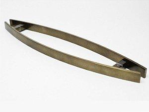 Puxador Curvo em Barra Chata Alça Dupla (3055 - 1 1/4) 60 cm Alumínio Antique - VESFER