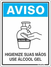 Placa Pvc 15 X 20 Use Álcool Gel - Sinalize
