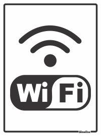 Placa Pvc 15 X 20 Wi-Fi - Sinalize