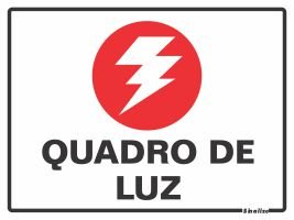 Placa Pvc 15 X 20 Quadro De Luz - Sinalize