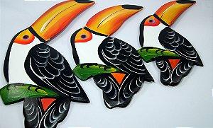 Trio de Parede em Madeira - Tucano - Médio